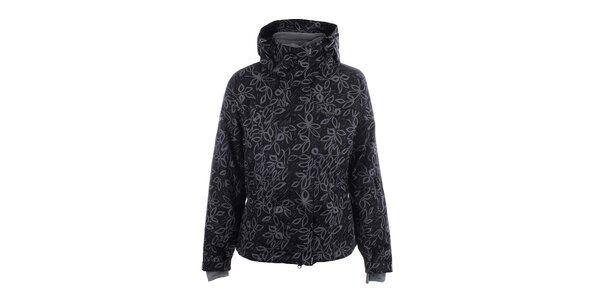 Dámská černá lyžařská bunda s potiskem Envy