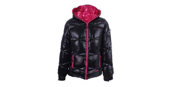 Dámská oboustranná růžovo-černá zimní bunda Envy