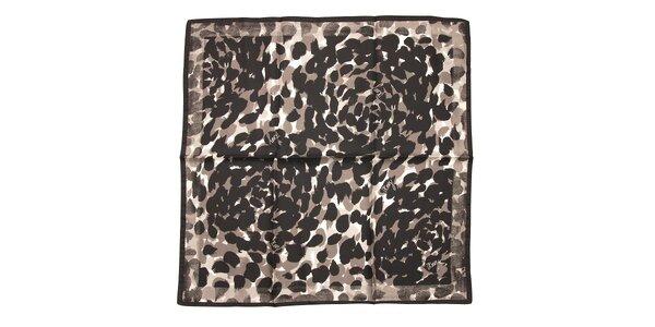 Luxusní hedvábný šátek DKNY v černé barvě