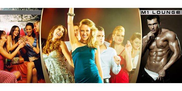 Ladies' Night Strip Show v klubu M1 Lounge + 2 drinky