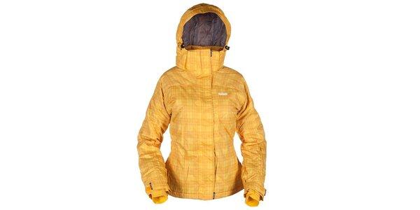 Dámská lyžařská žlutá károvaná bunda Envy