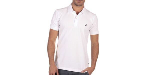 Pánské bílé polo tričko s krátkým rukávem Nautica