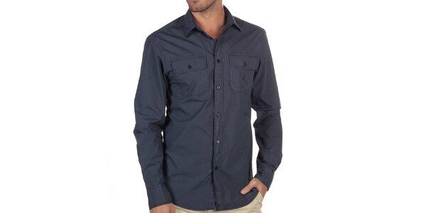 Pánská tmavě modrá košile s kapsami Nautica