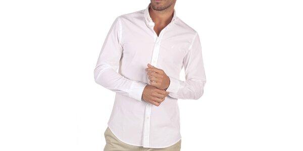 Pánská bílá košile s dlouhým rukávem Nautica