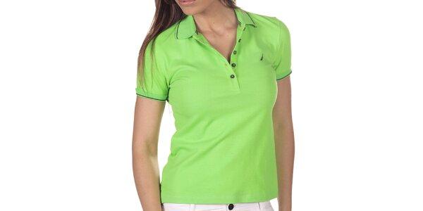 Dámské zelené polo triko s krátkým rukávem Nautica