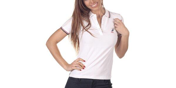 Dámské bílé polo triko s krátkým rukávem Nautica
