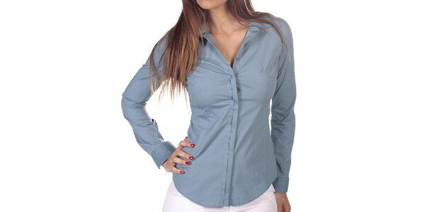 Dámská světle modrá košile s dlouhým rukávem Nautica