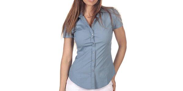 Dámská světle modrá košile s krátkým rukávem Nautica