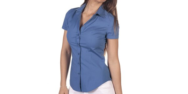 Dámská modrá košile s krátkým rukávem Nautica