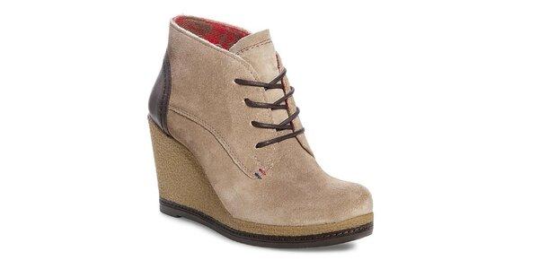 Dámské béžové boty na platformě Tommy Hilfiger