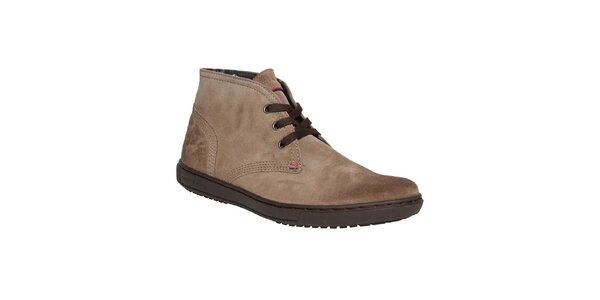Pánské hnědé prošívané kotníkové boty Tommy Hilfiger