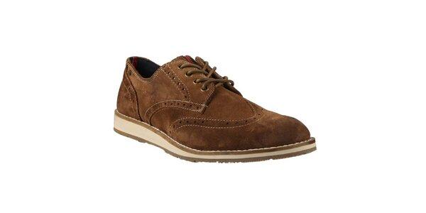 Pánské hnědé boty s prošíváním Tommy Hilfiger