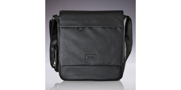 Pánská černá taška přes rameno Verso