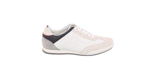 Pánské béžovo-bílé tenisky s tmavými prvky Tommy Hilfiger