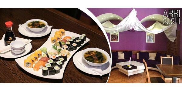 Špičkové sushi menu pro dva v restauraci Abri Sushi