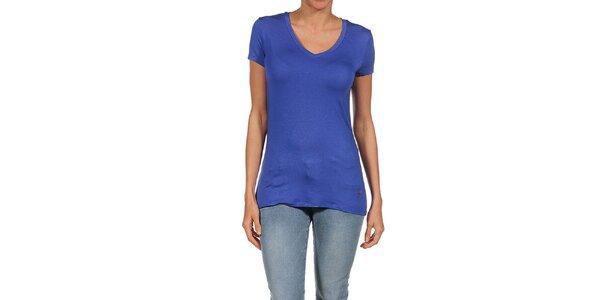 Dámské modré splývavé tričko Guess by Marciano