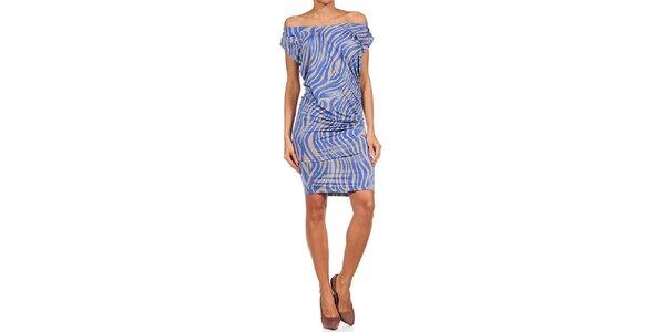 Dámské modro-béžové šaty Guess by Marciano