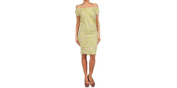 Dámské limetkovo-béžové šaty Guess by Marciano