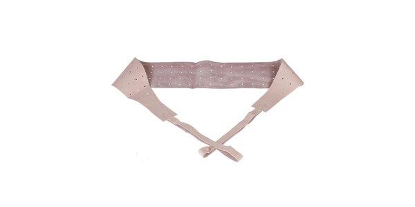Dámský růžový perforovaný pásek Guess by Marciano