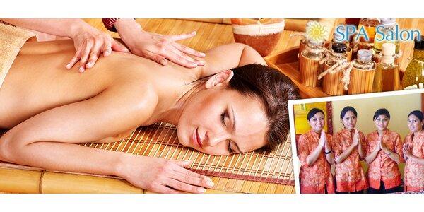Až hodina thajské či jávské masáže dle výběru