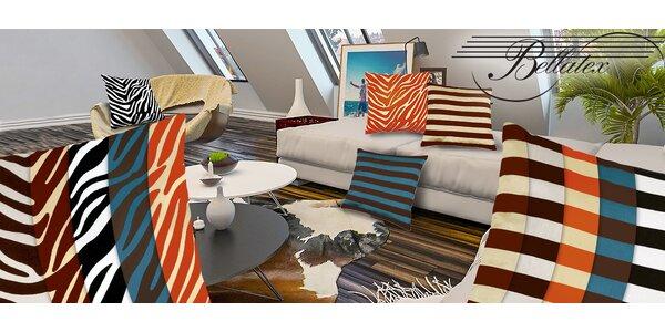 Dva dekorační polštářky v trendy vzorech