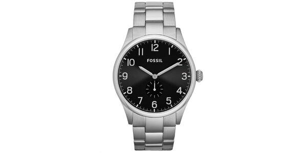 Pánské analogové hodinky s černým ciferníkem Fossil