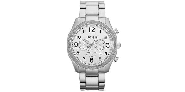 Pánské stříbrné hodinky z nerezové oceli Fossil