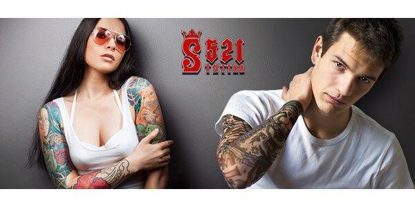 Tetování až 20×10 cm v novém studiu Š521 Tattoo