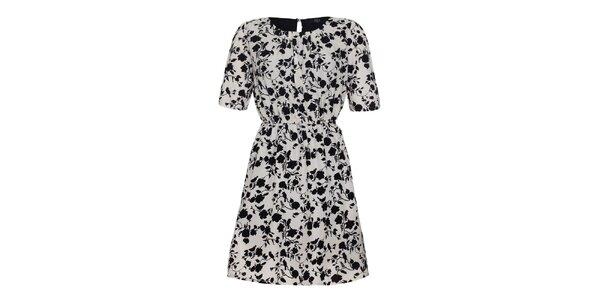 Dámské bílo-černé šaty Iska