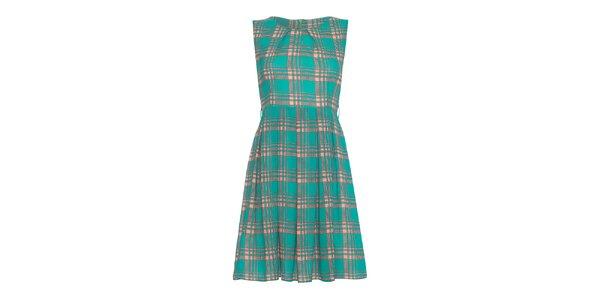 Dámské zelené vzorované šaty Iska