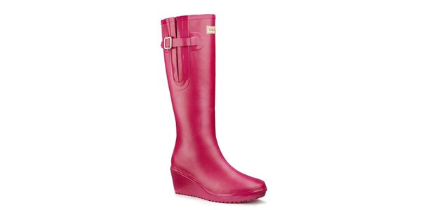 Dámské růžové flex holínky Wedge Welly