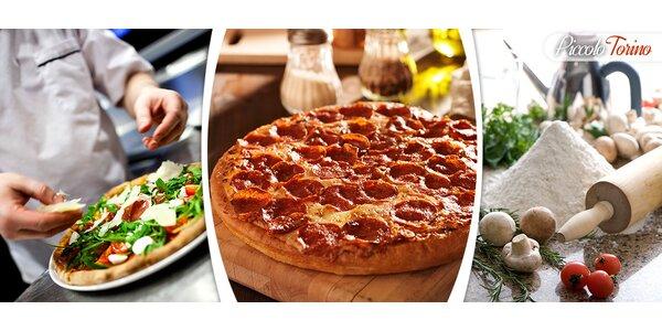Dvě výtečné pizzy dle výběru od italského kuchaře