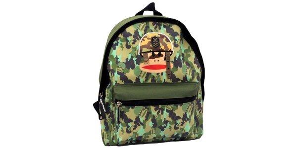 Zelený maskáčový batoh Paul Frank