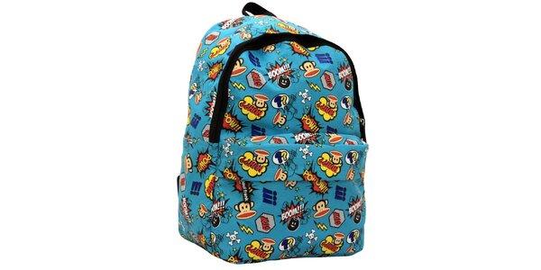 Modrý komiksový batoh Paul Frank