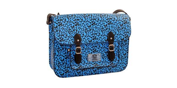 Modrá aktovka s leopardím vzorem Paul Frank