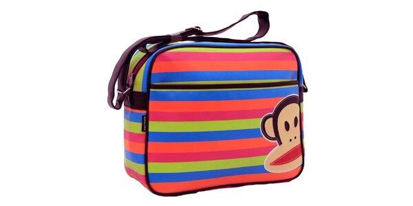 Barevná pruhovaná taška přes rameno Paul Frank
