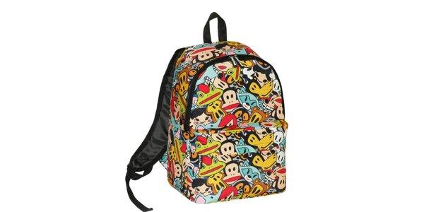 Pestrobarevný komiksový batoh Paul Frank