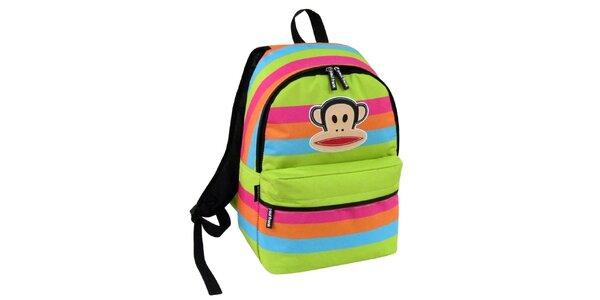 Barevný pruhovaný batoh Paul Frank