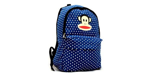 Modrý batoh s bílými puntíky Paul Frank