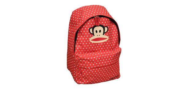 Červený batoh s puntíky Paul Frank