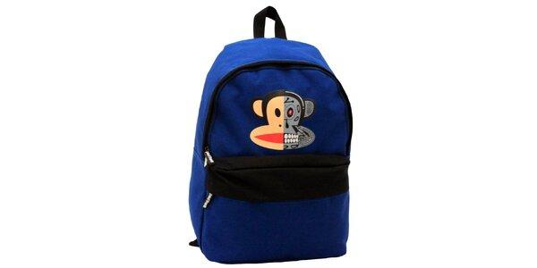 Modrý batoh s opičí hlavou Paul Frank