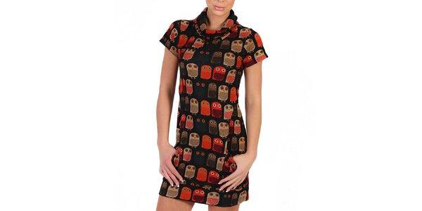 Dámské rolákové šaty s postavičkami Peper Tree