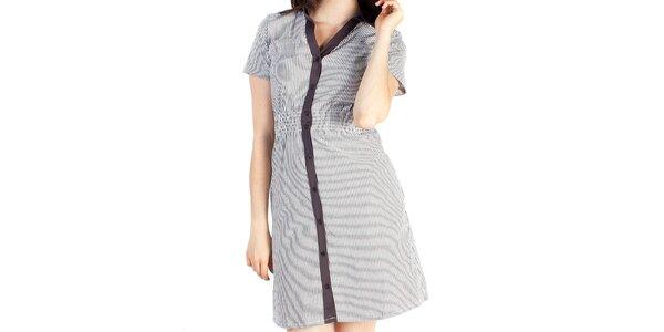 Dámské šedé košilové šaty Pepper Tree