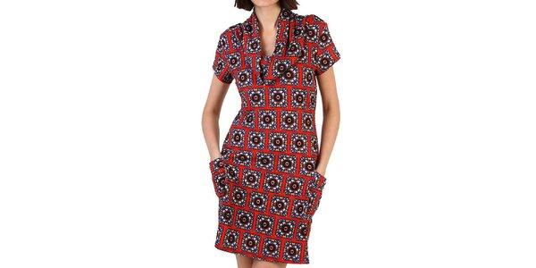 Dámské vínové šaty se vzorem Pepper Tree
