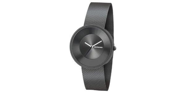 Metalické hodinky s texturovaným řemínkem Lambretta