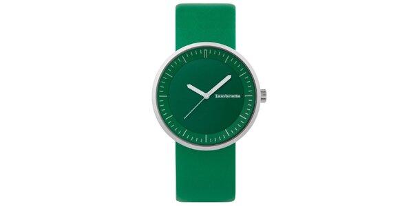 Zelené hodinky s koženým řemínkem Lambretta