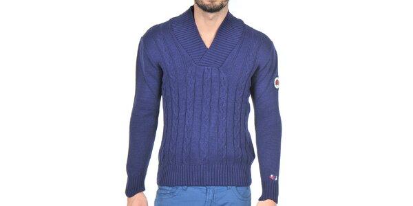 Pánský tmavě modrý pletený svetr Giorgio di Mare