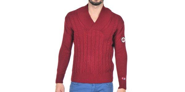 Pánský bordó pletený svetr Giorgio di Mare