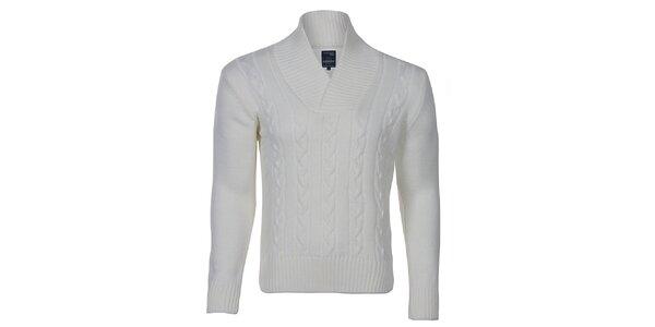 Pánský smetanově bílý pletený svetr Giorgio di Mare