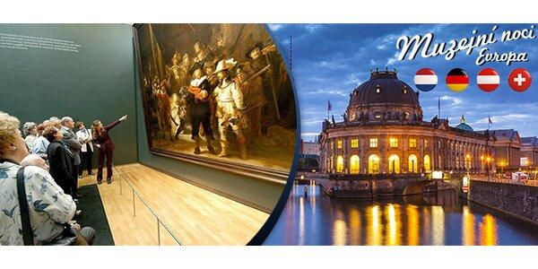 Říjnové noci muzeí a galerií v Mnichově, Vídni nebo Amsterdamu.